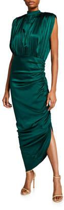 Veronica Beard Kendall Shirred Sleeveless Dress