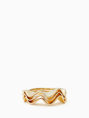 Kate Spade Frilled to pieces stackable ring set