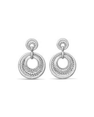 David Yurman Stax Concentric Drop Earrings with Diamonds $1,850 thestylecure.com