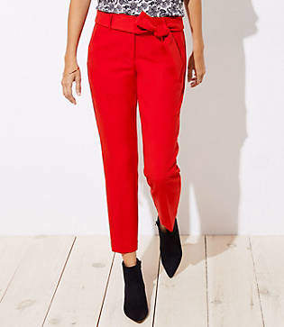 LOFT Petite Slim Tie Waist Pencil Pants in Julie Fit