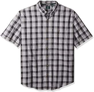 G.H. Bass & Co. Men's Size Big and Tall Short Sleeve Madawaska Plaid Trail Shirt