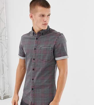 Asos Design DESIGN Tall skinny denim check shirt