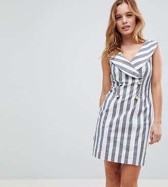 Asos Stripe Mini Tux Dress