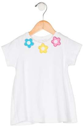 Florence Eiseman Girls' Appliqué Short Sleeve Top
