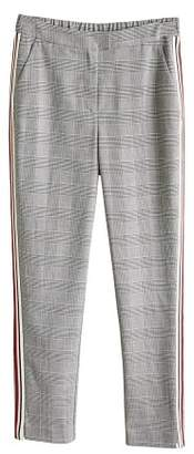 MANGO Contrasting trims checked trousers