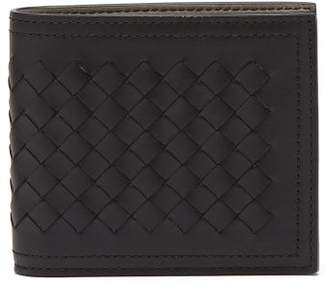 Bottega Veneta Intrecciato Bi Fold Leather Wallet - Mens - Black