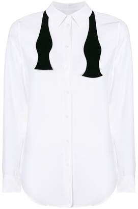 Equipment classic shirt with black tie detail