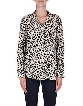 Jump Long Sleeve Animal Print Shirt