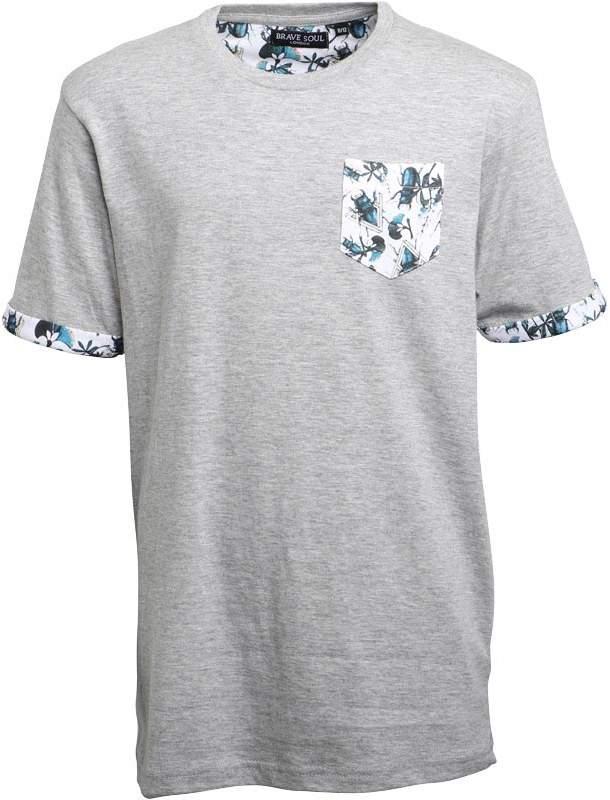 Jungen Fletcher Beetle T-Shirt Hellgraumeliert