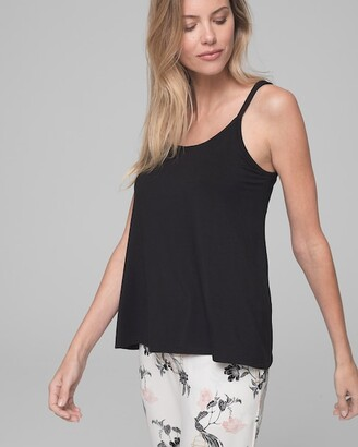 Cool Nights Pajama Swing Cami Black