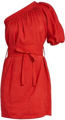 VANESSA BRUNO Grace one-shoulder crepe mini dress