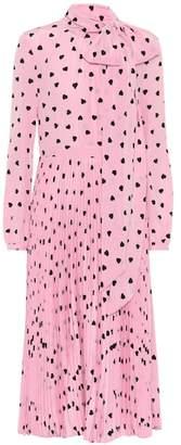 Valentino Heart print silk dress