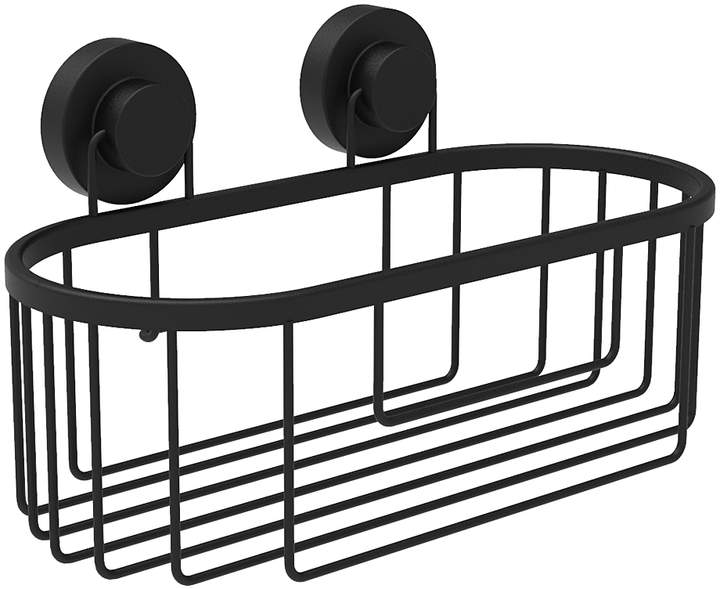 Black Lewis Aluminum Shower Caddy
