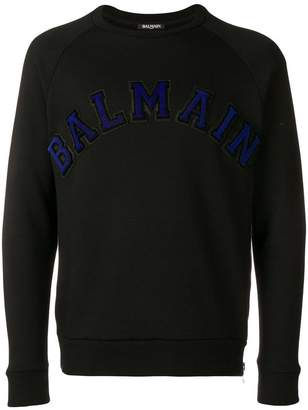 Balmain embroidered logo sweatshirt