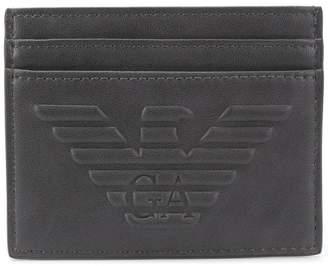 Emporio Armani logo cardholder wallet