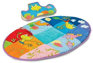 Taf Toys Pond Mat Thickly Padded Playmat and Tummy-Time Pillow