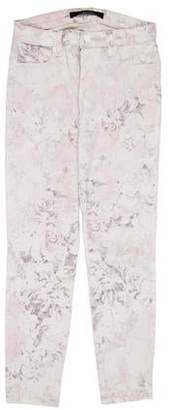 J Brand Printed Mid-Rise Jeans