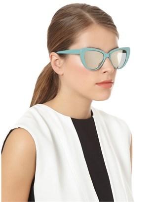 Prism Jade Capri Cat-Eye Sunglasses