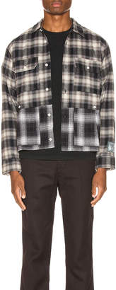 Reese Cooper Double Layered Flannel Shirt in Black | FWRD