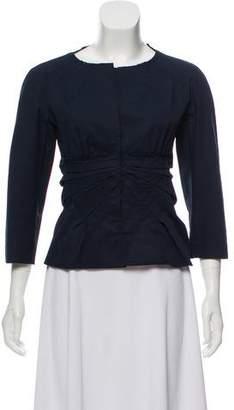 Prada Ruched Collarless Jacket