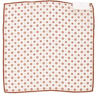 Brunello Cucinelli Geometric Wool Pocket Square w/ Tags
