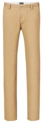 BOSS Hugo Cotton Colored Chino Pant, Slim Fit Rice 28R Beige