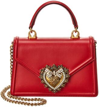 Dolce & Gabbana Devotion Small Leather Top Handle Crossbody