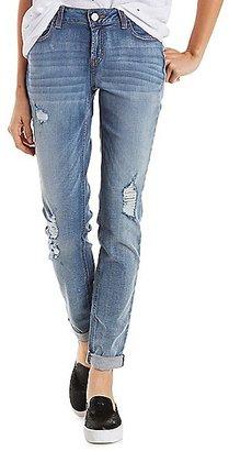 "Refuge """"Boyfriend"""" Destroyed Jeans $13.99 thestylecure.com"