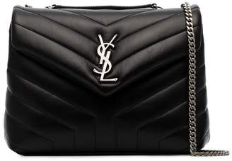 Saint Laurent Black Loulou Small Quilted Leather Crossbody Bag