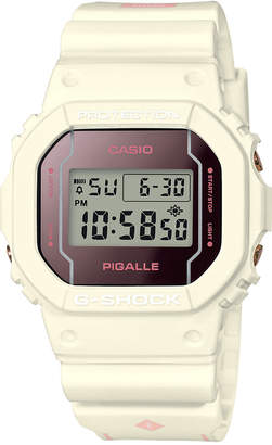 Casio G-Shock Women's Digital Pigalle White Resin Strap Watch 42.8x42.8mm - Limited Edition