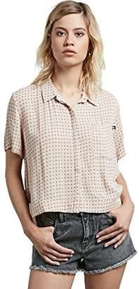 Volcom Junior's What You Need Zebra All Over Print Short Sleeve Shirt