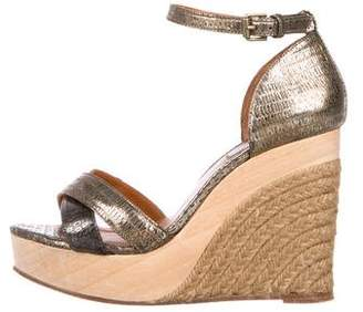 Lanvin Metallic Leather Espadrilles