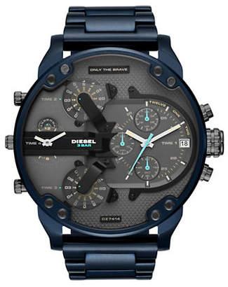 Diesel Mr. Daddy 2.0 Chronograph Blue Stainless Steel Watch