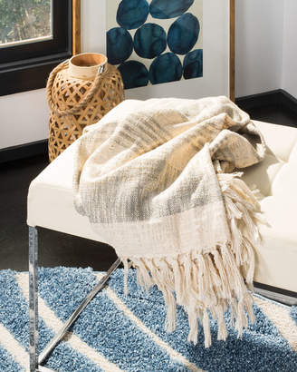 Safavieh Voleta Metallic Throw Blanket