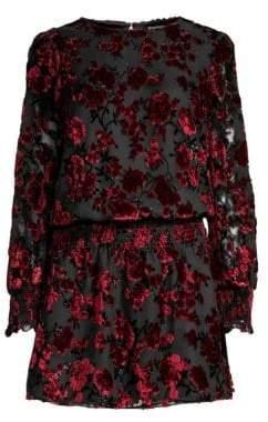 Parker Carmindy Flocked Velvet Mini Dress