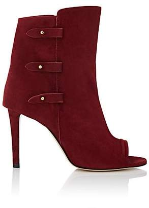 Jerome Dreyfuss WOMEN'S MILI SUEDE ANKLE BOOTS - RED SIZE 8.5