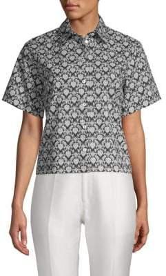 Dolce & Gabbana Printed Button-Down Shirt