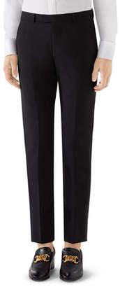 Gucci Men's Mohair-Wool Tuxedo Pants