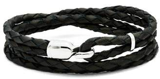 Miansai Trice Braided Leather Bracelet - Mens - Black Multi
