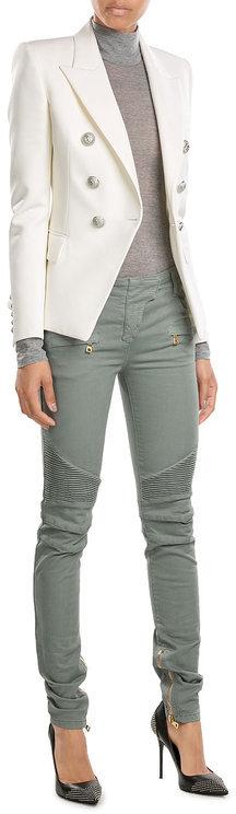 BalmainBalmain Skinny Biker Jeans