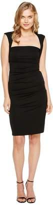 Nicole Miller Sleeveless Jersey Tuck Dress Women's Dress