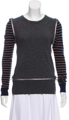 Band Of Outsiders Zip-Accented Cashmere Sweater