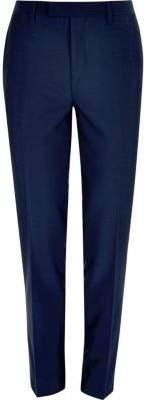River Island Bright blue slim suit pants