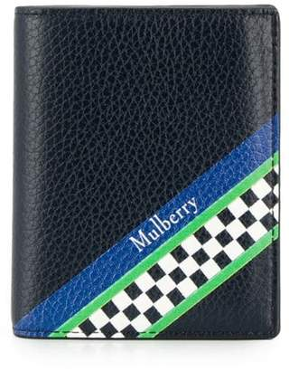 Mulberry racing stripes trifold wallet