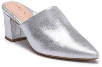 Taryn Rose Madison Metallic Leather Mule
