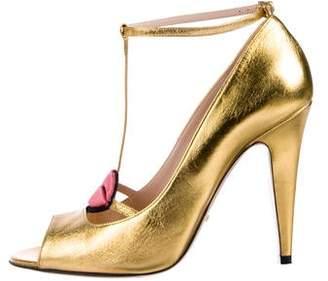 d43786dda77f Gucci Gold Pumps - ShopStyle