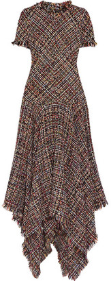 Alexander McQueen - Asymmetric Tweed Midi Dress - Pink