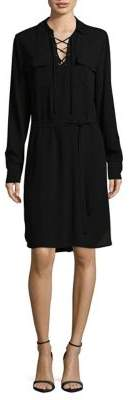 Lord & Taylor Lace-Up Crepe Shirtdress $120 thestylecure.com
