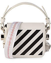 Off-White Women's Baby Diagonal Flap Leather Crossbody Bag