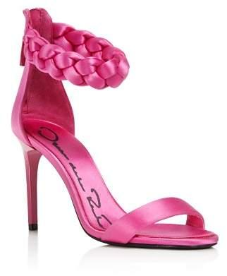 Oscar de la Renta Women's Brigit Braided Satin Ankle Strap High-Heel Sandals